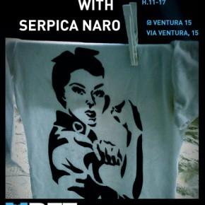 Gli stencil di Serpica anche quest'anno al Bicycle Film Festival
