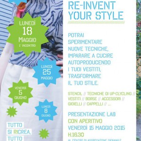 Re-invent your style · con Punto e virgola